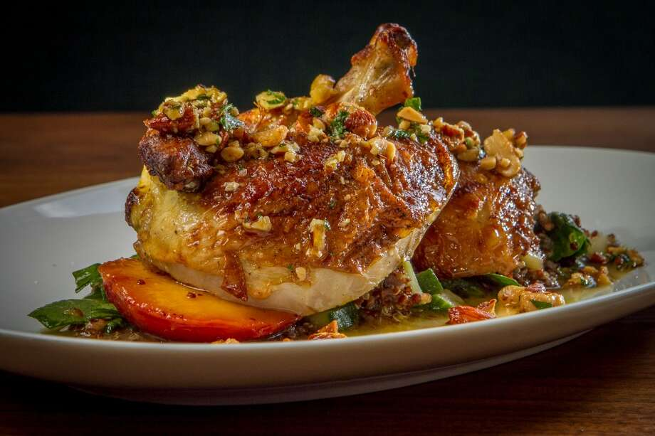 The Roasted Jidori Chicken at Farmshop in Larkspur.