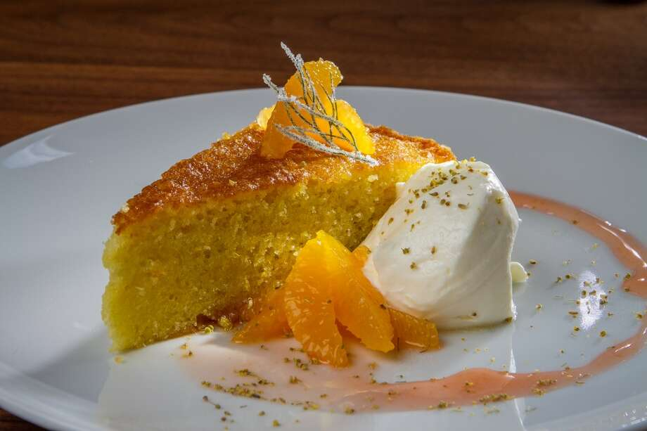 The Orange Almond Cake at Farmshop in Larkspur.