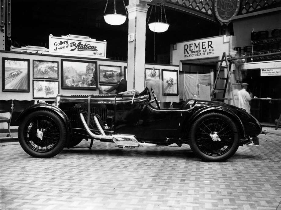 14th October 1931:  An Aston Martin, the 11-9 hp Le Mans Sports Model at the Motor Show, Olympia, London. Photo: Hudson, Getty Images / Hulton Archive