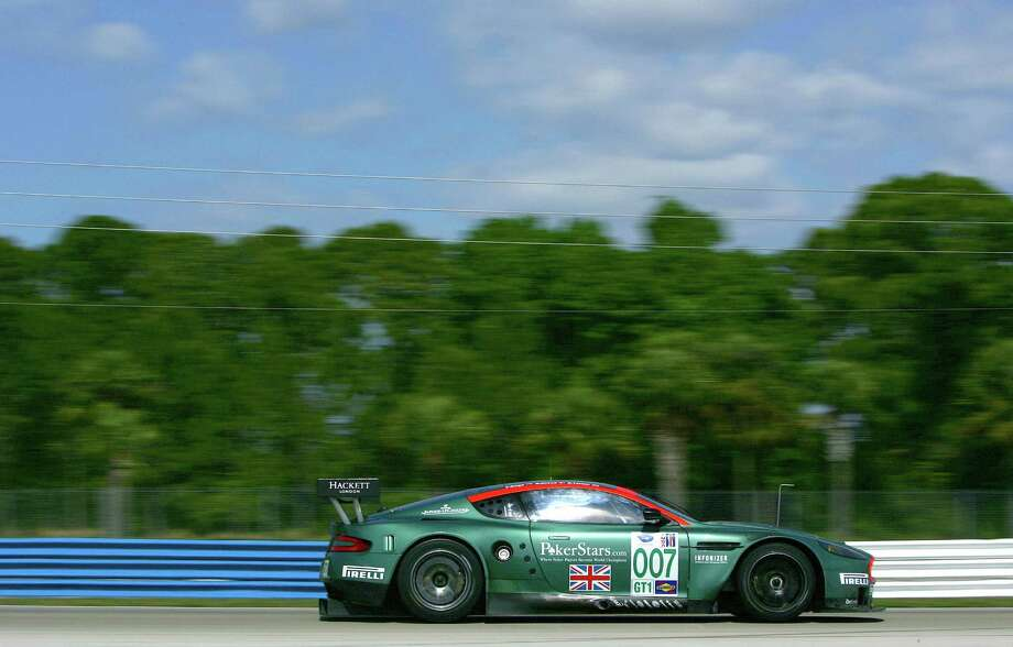 The #007 Aston Martin DB9 GT2 driven by Darren Turner, Tomas Enge and Nicolas Kiesa during practice for the American Le Mans Series 54th Annual Mobil 1 12 hours of Sebring at the Sebring International Raceway on March 12, 2006 in Sebring, Florida. Photo: Darrell Ingham, Getty Images / 2006 Getty Images