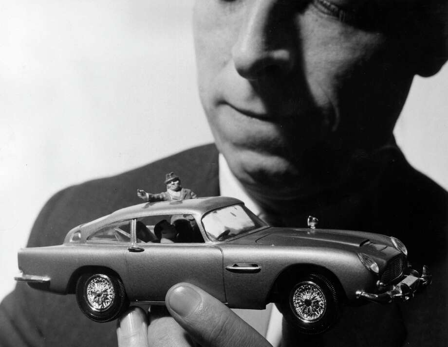 31st January 1966:  The Airfix James Bond Aston Martin DB5 model car, on show at the Brighton Toy Fair, the subject of many letters from little boys to Father Christmas. Photo: George W. Hales, Getty Images / Hulton Archive