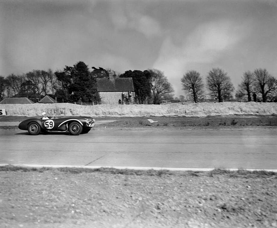 Stirling Moss driving an Aston Martin at Goodwood, April 1956. Photo: Central Press, Getty Images / 2008 Getty Images