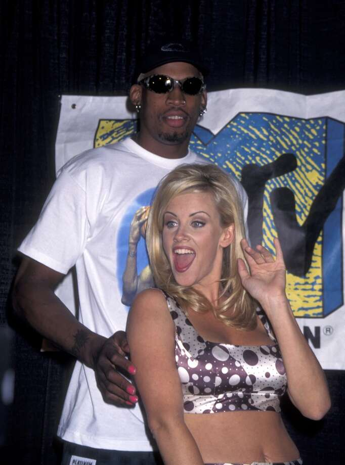 Dennis Rodman and Jenny McCarthy in 1996. Photo: Ron Galella, WireImage