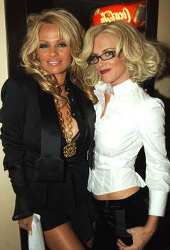 Pamela Anderson and Jenny McCarthy during 33rd Annual American Music Awards Photo: Jeff Kravitz, FilmMagic, Inc