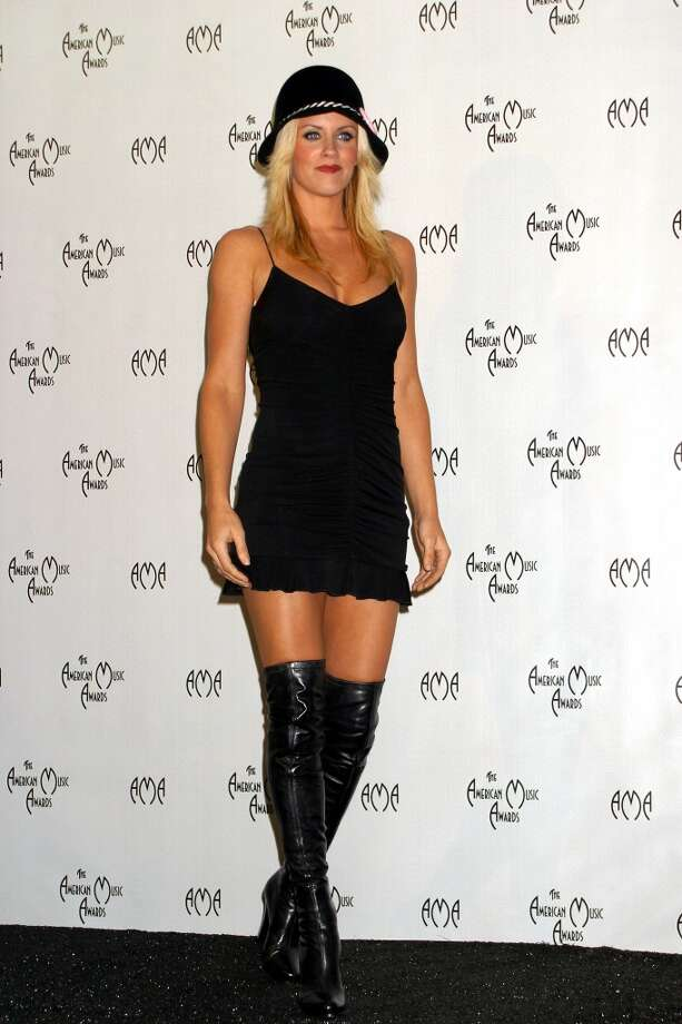 Jenny McCarthy in the press room at the 31st Annual American Music Awards in 2003. Photo: Vinnie Zuffante, Getty Images