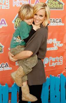 Actress Jenny McCarthy and her son Evan in 2007. Photo: Mark Mainz, Getty Images