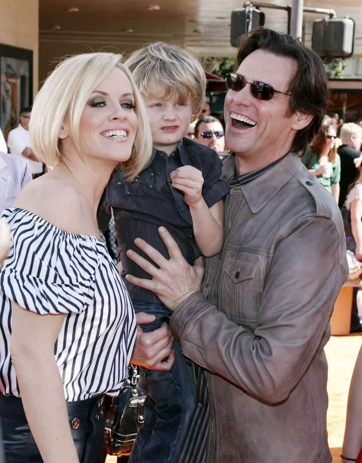 Actress Jenny McCarthy, her son Evan and actor Jim Carrey in 2008. Photo: Kevin Winter, Getty Images
