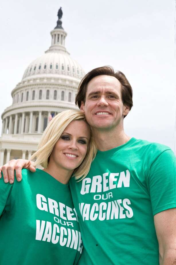 Jenny McCarthy and Jim Carrey in 2008. Photo: Paul Morigi, WireImage