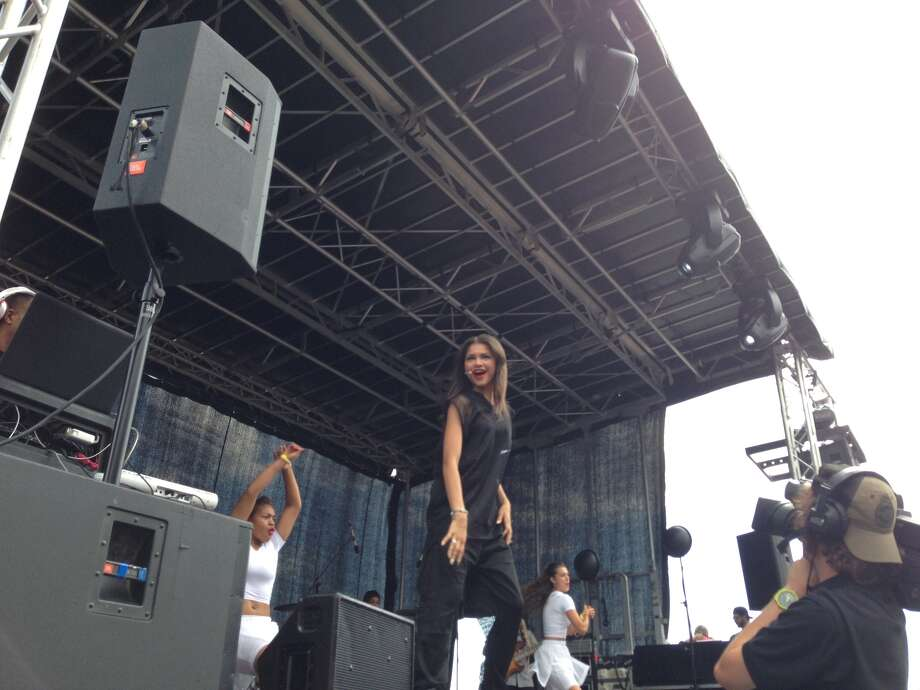 Disney performer Zendaya entertains the crowd at the 33rd Annual Open House at the Saratoga Race Course on Sunday, July 14, 2013. Photo: Lisa Audi / Ed Lewi Associates