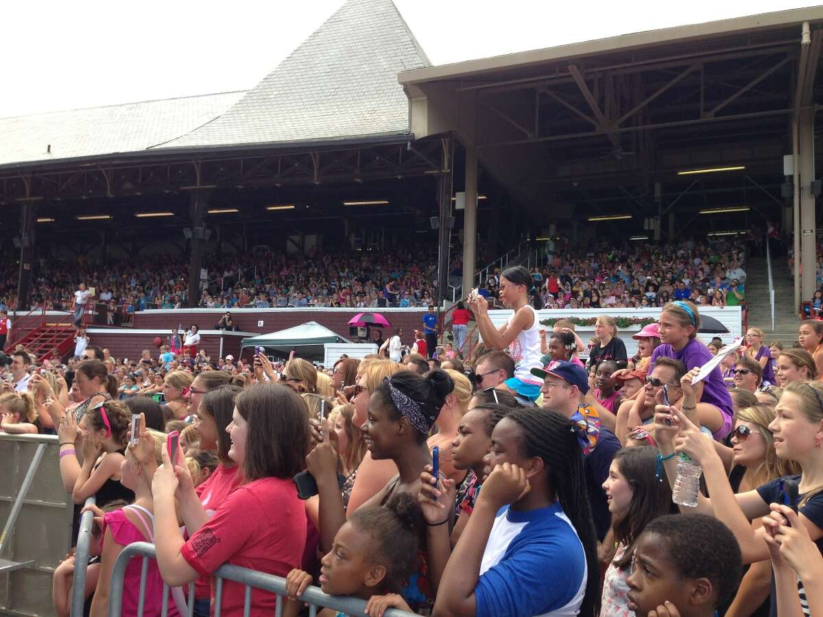 Disney performer Zendaya entertains the crowd at the 33rd Annual Open House at the Saratoga Race Course on Sunday, July 14, 2013.