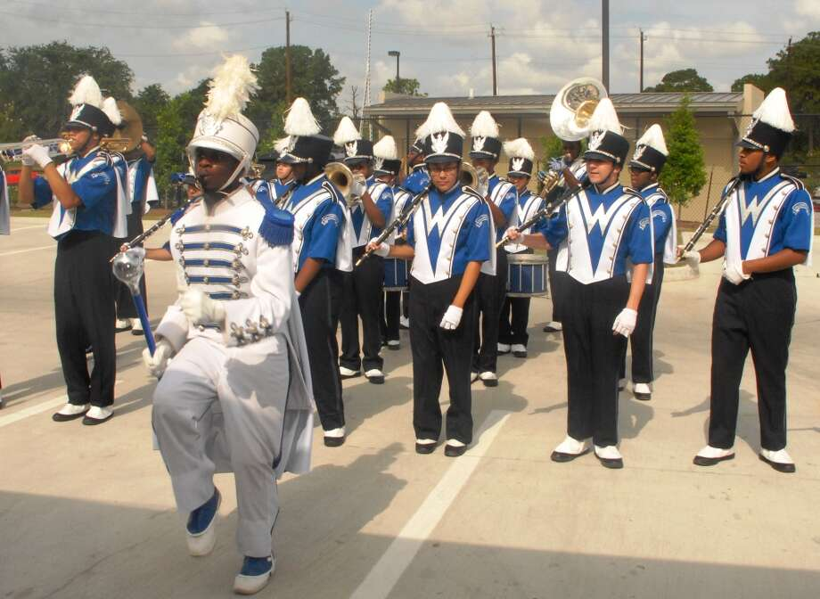 Willowridge High School Marching Band provided entertainment for the grand opening at Niagara Bottling Co. in Missouri City on Friday, July 12.