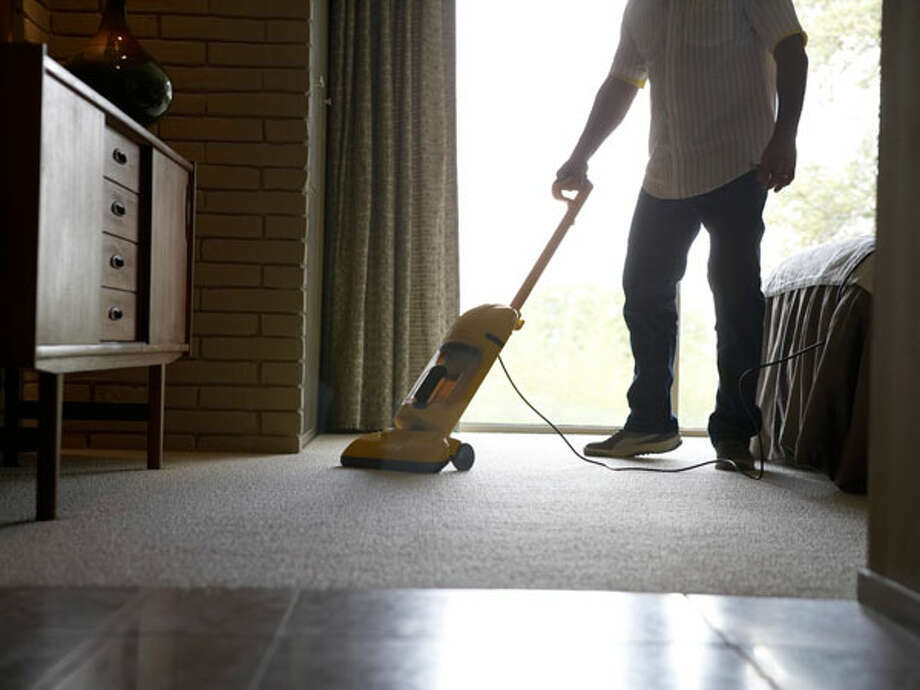 May: Vacuum under and behind beds and bedroom furniture. Photo: Fuse, Getty Images