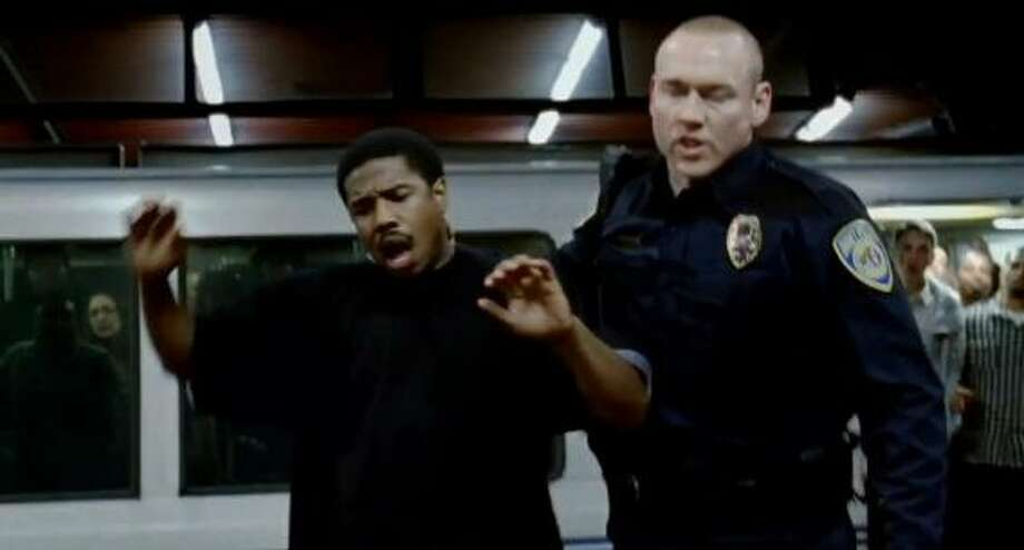 Michael B. Jordan as Oscar Grant and Kevin Durand as the name-changed BART officer