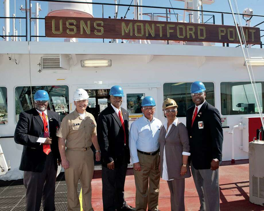 Here, members of the Montford Point Association tour the USNS Montford Point. Photo: General Dynamics NASSCO