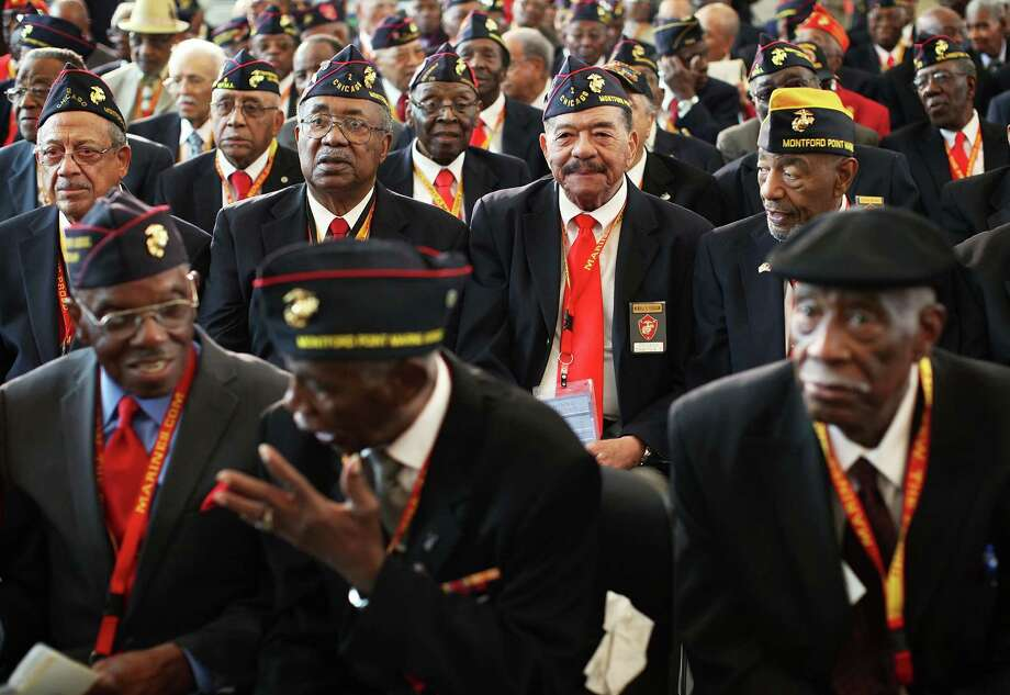 "The ""Montford Point Marines"" were presented with the Congressional Gold Medal on June 27, 2012. Photo: Alex Wong, Getty Images / 2012 Getty Images"