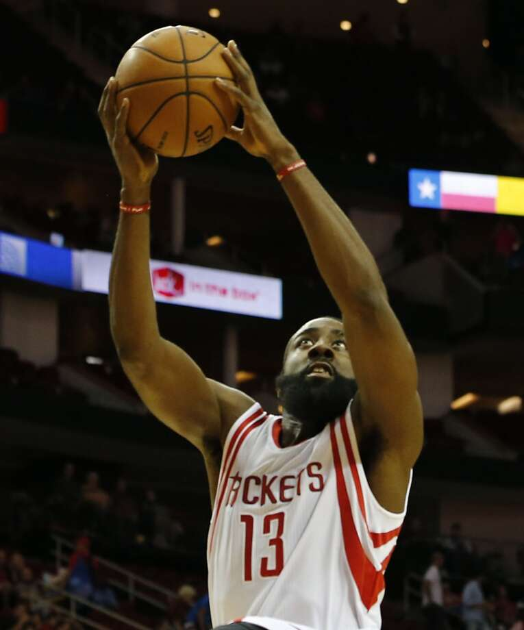 13 - James Harden Acquired just days before the 2012-13 season, Harden instantly became an elite player for the superstar-starved Rockets. The bearded shooting guard averaged 25.9 points and 5.8 assists in leading the Rockets back to the playoffs. Photo: James Nielsen, Chronicle