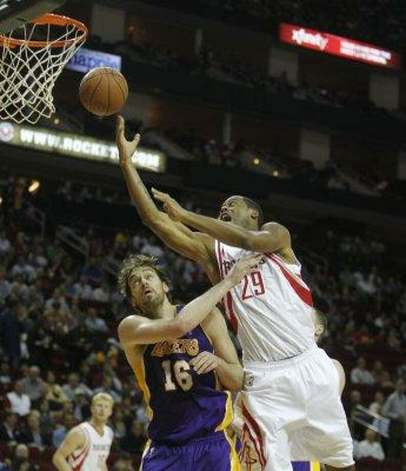 29 - Marcus CambyThe four-time all-defensive pick and former Defensive Player of the Year became a Rocket at the 2012 trade deadline to solidify the defense and rebounding off the bench. Photo: Karen Warren, Houston Chronicle