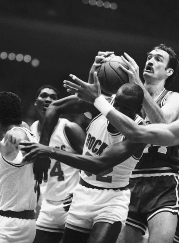 32 - Lewis LloydLloyd averaged 16.9 points to help lead the Rockets to the 1986 NBA Finals, which they lost in six games to the Celtics. He averaged a career-best 17.8 points in 1983-84. Photo: F. Carter Smith, AP / AP1985