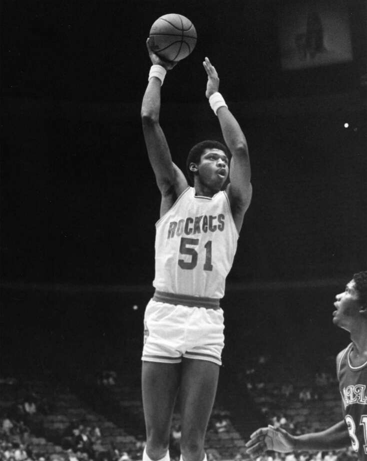 51 - Jawann Oldham Oldham, the only player ever to wear No. 51, played 22 games with the Rockets in the 1981-82 season. He scored 34 points, with a career high of five. Photo: Courtesy Of Houston Rockets