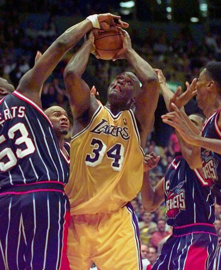 53 - Stanley Roberts Roberts is the only player ever to wear No. 53. He scored 14 points in six games in the 1998-99 season. Photo: MICHAEL CAULFIELD, AP / AP