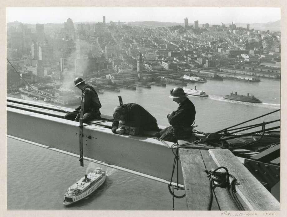 Men Working on I-Beam, 1935