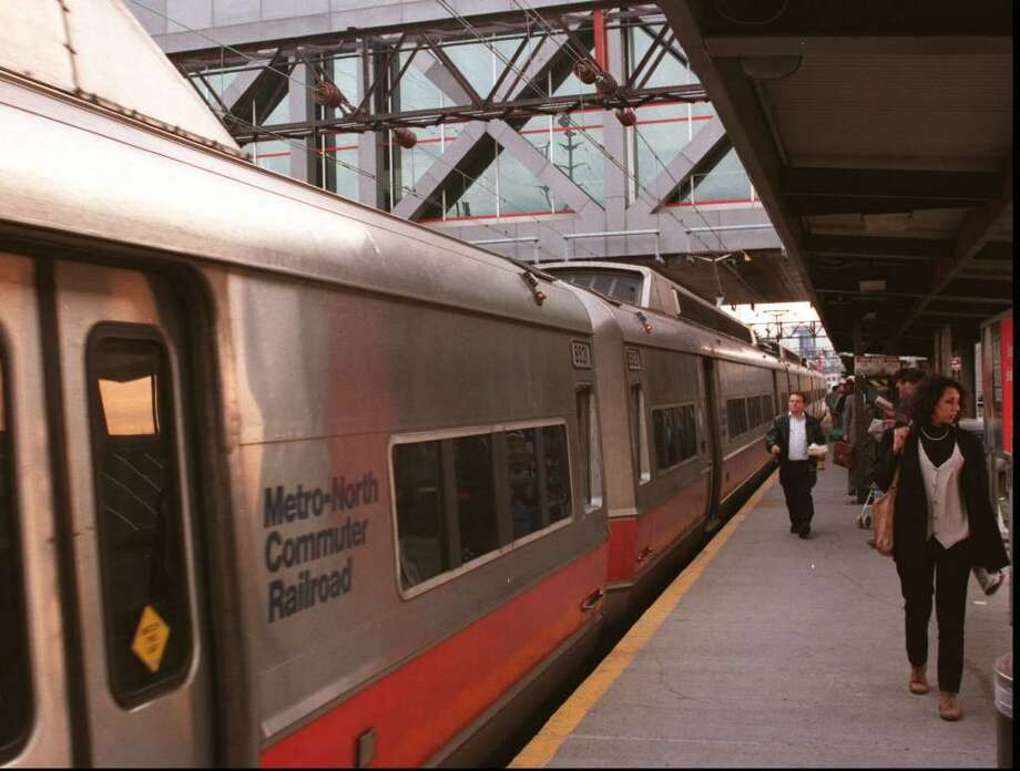 Stamford Transportation Center is a stop for all Metro North trains from New Haven to NYC.  Friday late travelers to New York prepare to board.  Tom Ryan/Staff Photo Photo: File Photo / Stamford Advocate File Photo