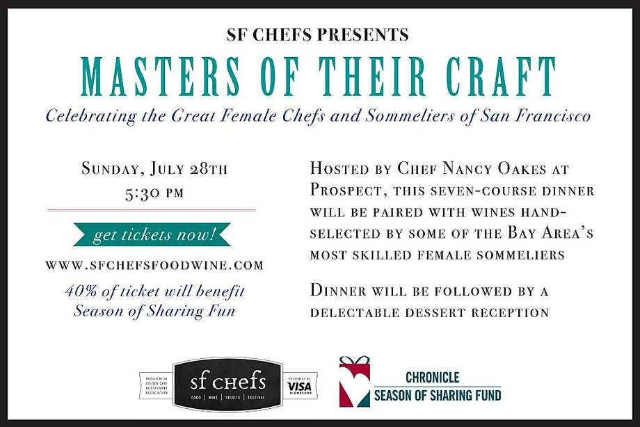 SF Chefs is hosting a special dinner by female chefs July 28. Photo: SF Chefs