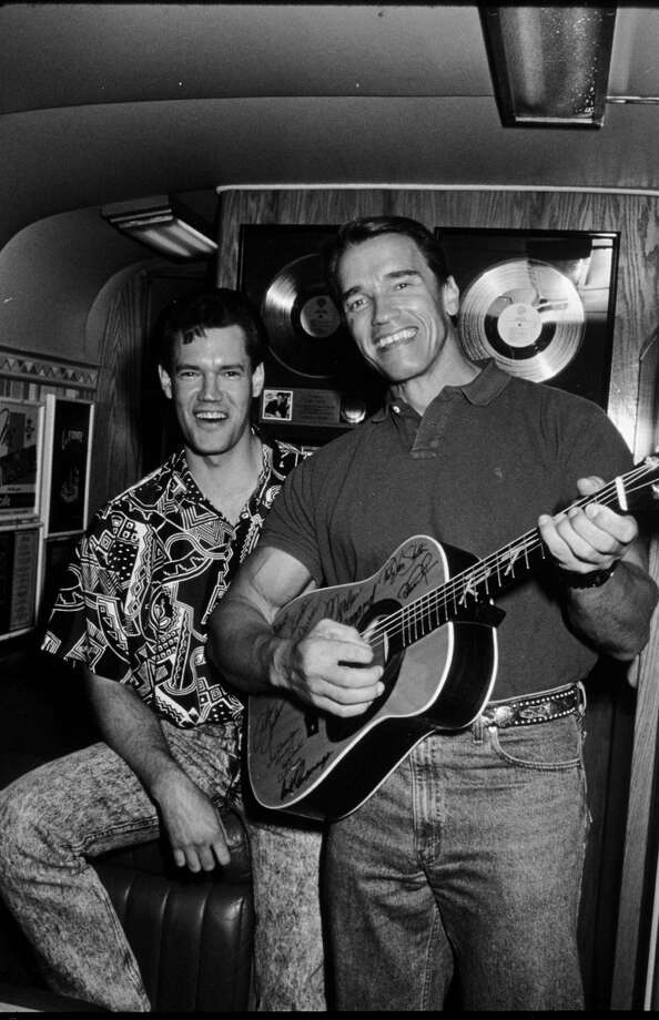 Arnold Schwarzenegger and Randy Travis  (Photo by Time & Life Pictures/Getty Images)