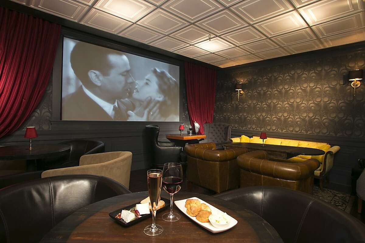 Noir Lounge is a film noir-themed wine bar with food in Hayes Valley.