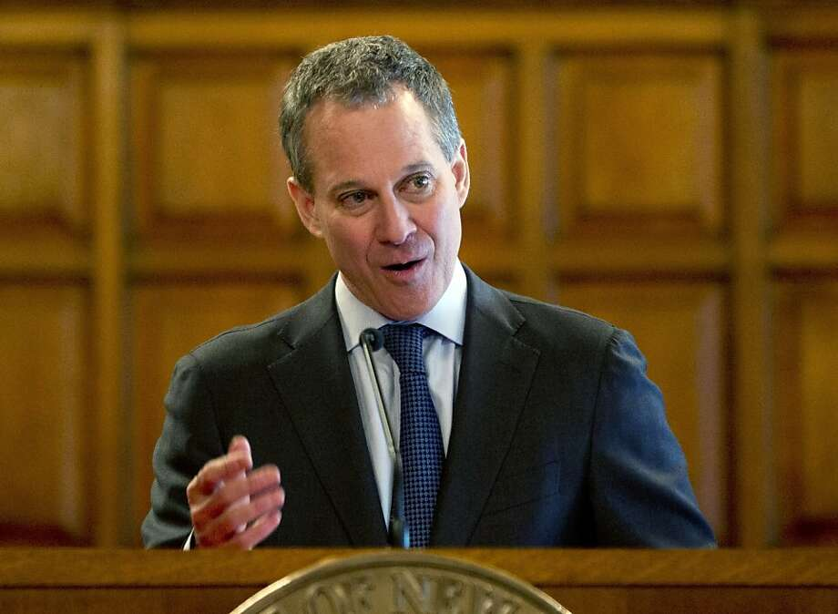 New York Attorney General Eric Schneider- man on Monday announced that he had reached agreements with 19 companies to stop churning out bogus online reviews and pay $350,000 in fines. Photo: Mike Groll, Associated Press