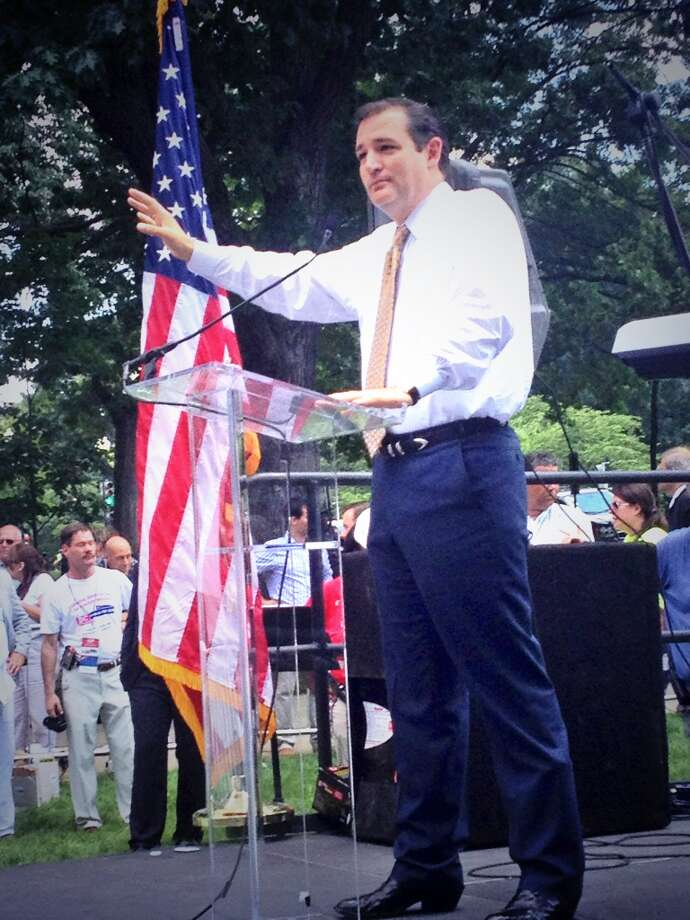 Sen. Ted Cruz speaks about immigration reform at the DC March for Jobs on July 15, 2013. Staff Photo.