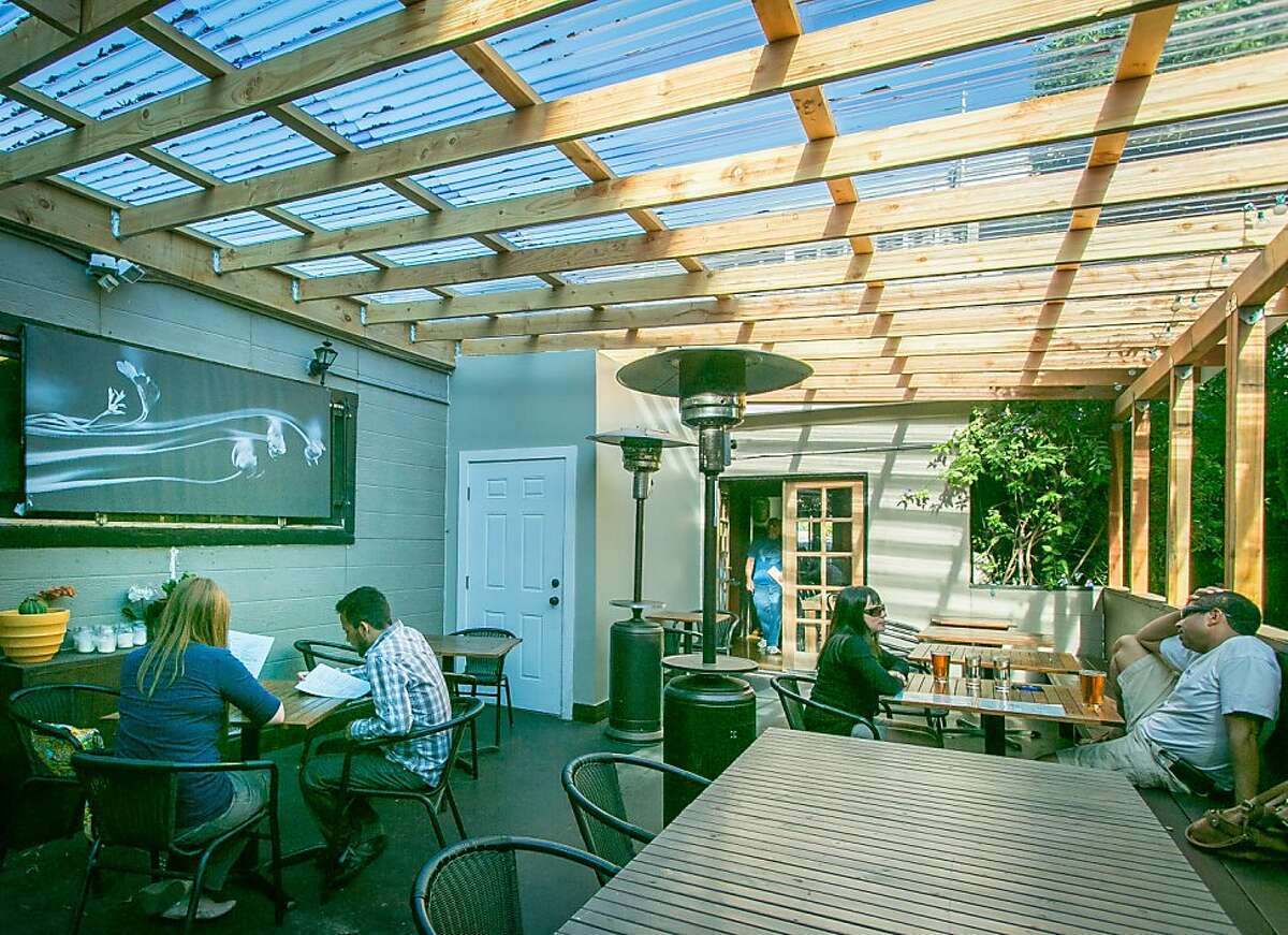 The back patio at Grand Tavern in Oakland, Calif., is seen on Saturday, July 13th, 2013.