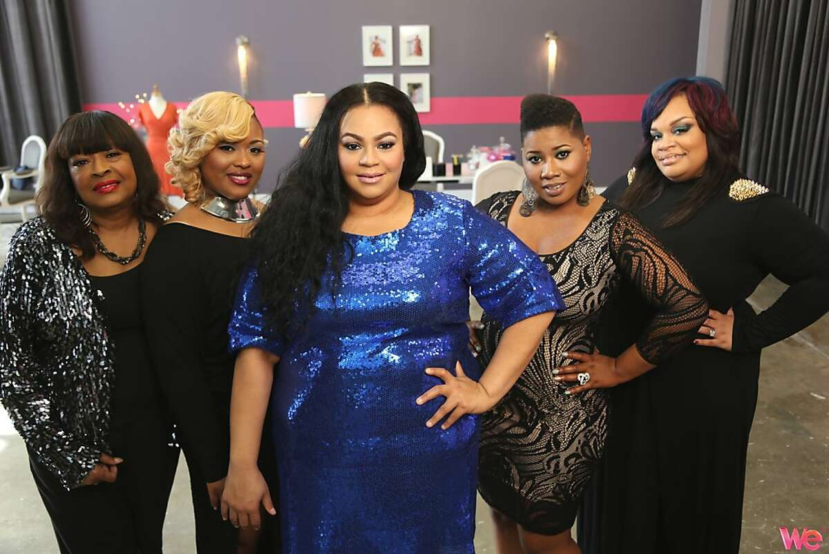 """Kenyatta Jones is a plus-size fashion designer in Atlanta, Ga., who has a reality show on WE called """"House of Curves."""""""