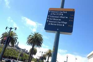 America's Cup walking signs