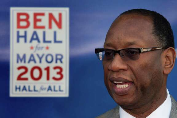 Challenger Ben Hall reported 300 donors to Mayor Annise Parker's 2,000.