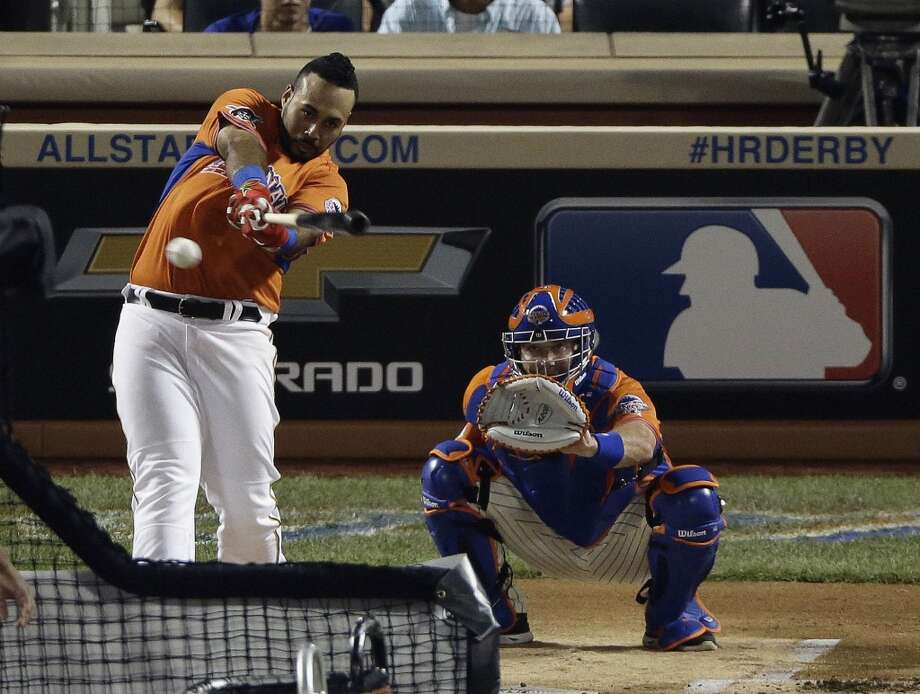 Pedro Alvarez of the Pittsburgh Pirates swings during the Home Run Derby.