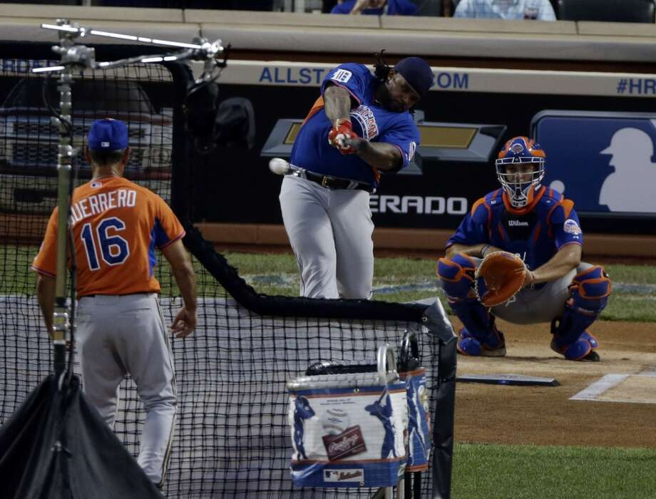Prince Fielder of the Detroit Tigers takes a swing during the Home Run Derby.