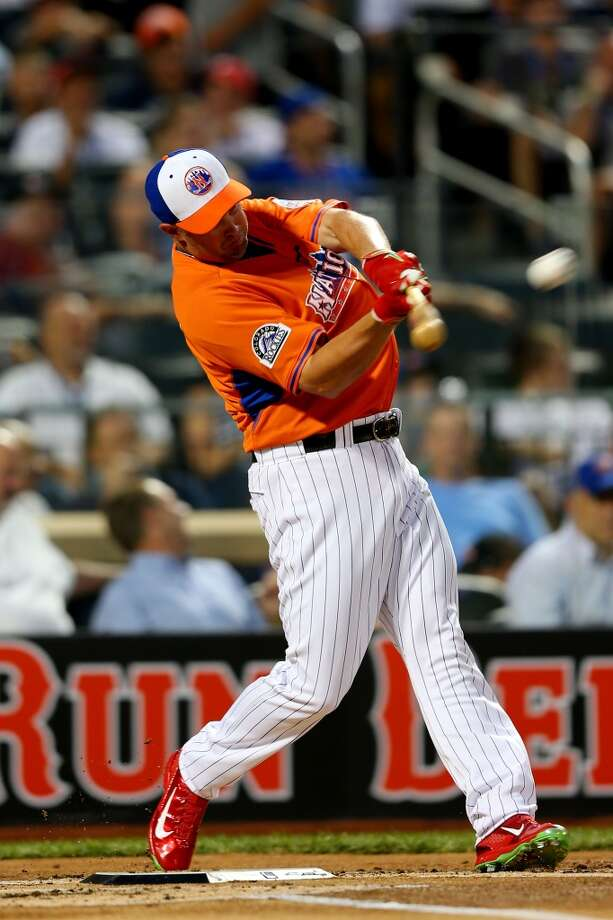 Michael Cuddyer of the Colorado Rockies takes a swing at the Home Run Derby.