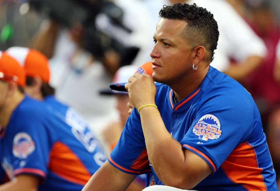 Miguel Cabrera of the Detroit Tigers watches the All-Star festivities.