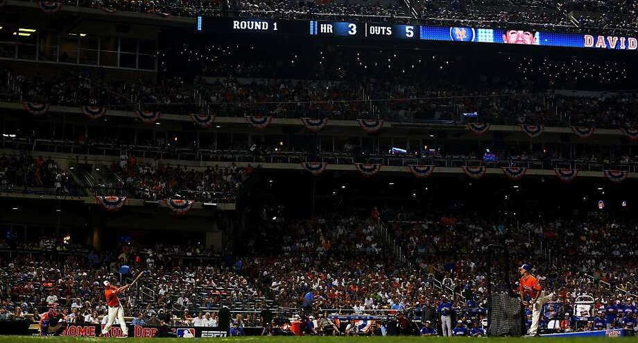 David Wright of the New York Mets bats during the Chevrolet Home Run Derby on July 15, 2013. Photo: Mike Ehrmann, Getty Images