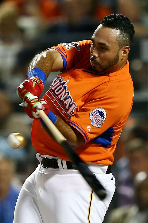National League All-Star Pedro Alvarez #24 of the Pittsburgh Pirates competes in the Chevrolet Home Run Derby. Photo: Elsa, Getty Images