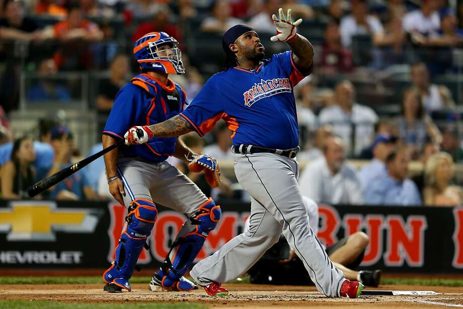 Prince Fielder of the Detroit Tigers hits during the Chevrolet Home Run Derby. Photo: Mike Ehrmann, Getty Images