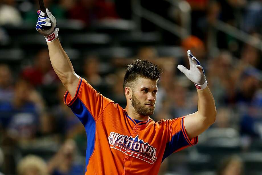 Bryce Harper of the Washington Nationals bats during the Chevrolet Home Run Derby. Photo: Mike Ehrmann, Getty Images