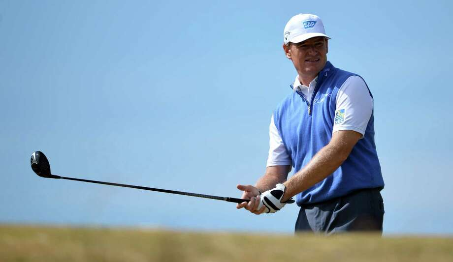 Defending British Open champion Ernie Els might not be the odds-on favorite to win this week at Muirfield, but a recent run of good play may have him in contention to again hoist the claret jug. Photo: PAUL ELLIS, Staff / AFP