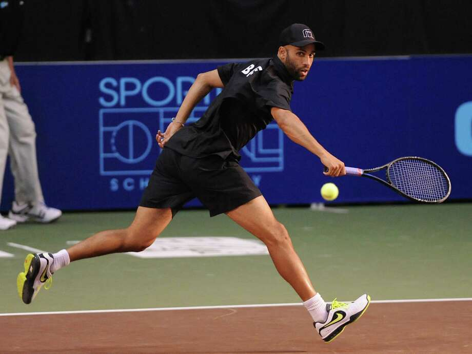 James Blake plays tennis for the NY Sportimes against Philadelpia Freedoms Samuel Groth at the SEFCU Arena at UAlbany Monday, July 15, 2013 in Albany, N.Y. (Lori Van Buren / Times Union) Photo: Lori Van Buren / 00022911B