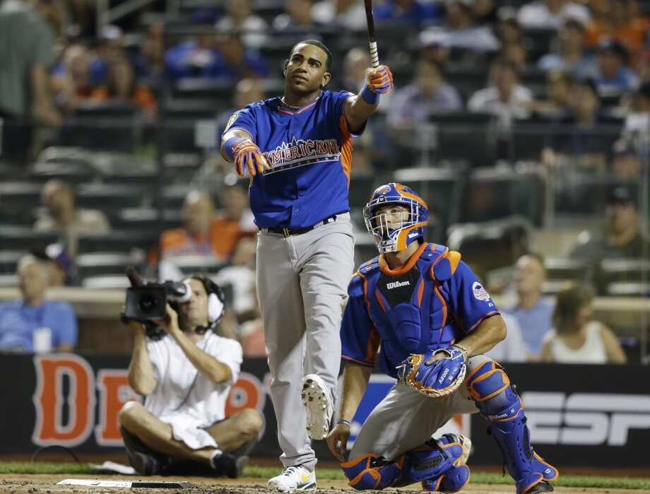 Yoenis Cespedes, of the Oakland Athletics, during the second round.