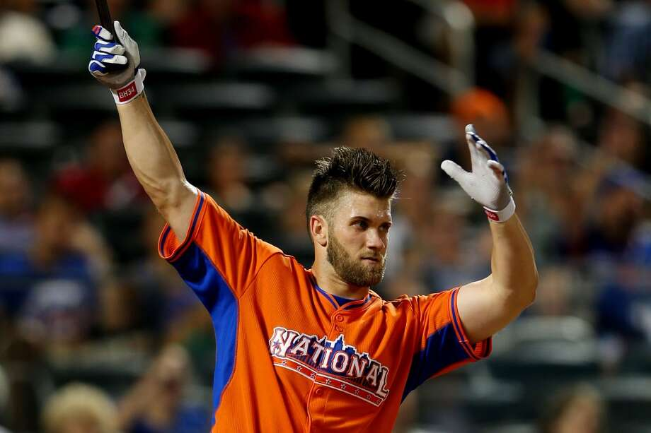 Nationals outfielder Bryce Harper participates in the Home Run Derby.