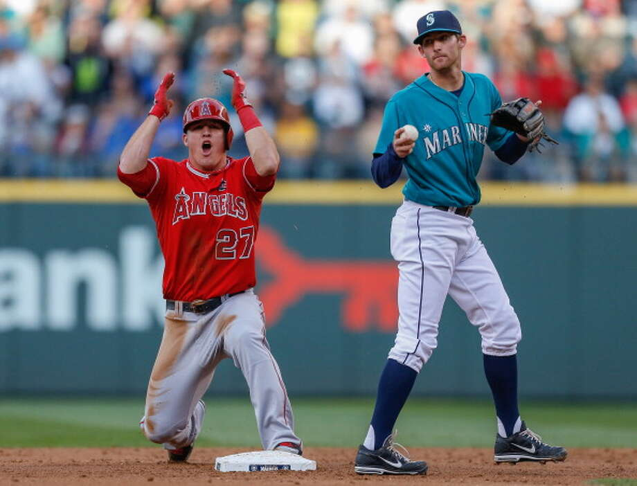 5. The Mariners are just two games behind the Angels They're still sitting in fourth place -- something that comes as no surprise. But at the All-Star break, the Mariners are in spitting distance of the Angels -- only two games back. Of course, it's much more shocking that the Angels -- a preseason World Series favorite -- have spent nearly the entirety of the first half below .500. In any case, the Angels being in the same company as the Mariners is a shocking development.  Photo: Otto Greule Jr, Getty Images / 2013 Getty Images