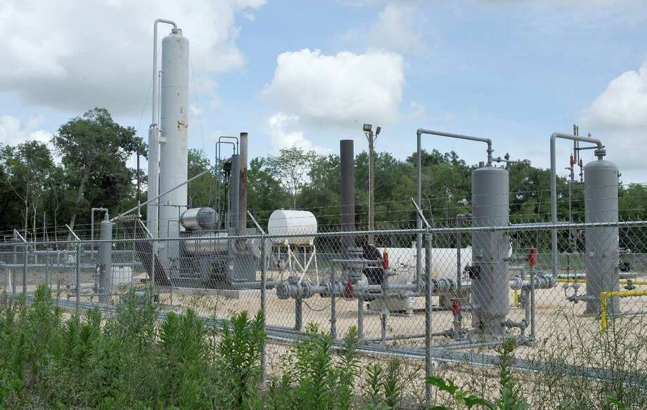 This natural gas well on Tyrrell Park proeprty has made almost $600,000 in royalty payments for the city of Beaumont since May 30, 2013. The money, 75 percent of it, must be used for Tyrrell Park improvements. The other 25 percent will be used for the Tyrrell Historical Library, unlike the money from the municipal airport well earnings, most of that will be used for street construction projects. Dave Ryan/The Enterprise