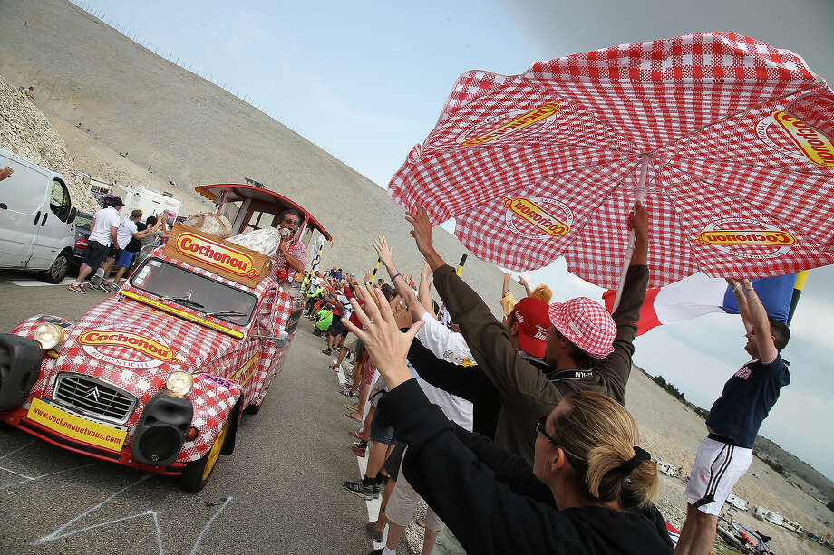 Publicity caravan Cochonou during stage fifteen of the 2013 Tour de France, a 242.5KM road stage from Givors to Mont Ventoux, on July 14, 2013 in Mont Ventoux, France. Photo: John Berry, Getty Images / 2013 John Berry